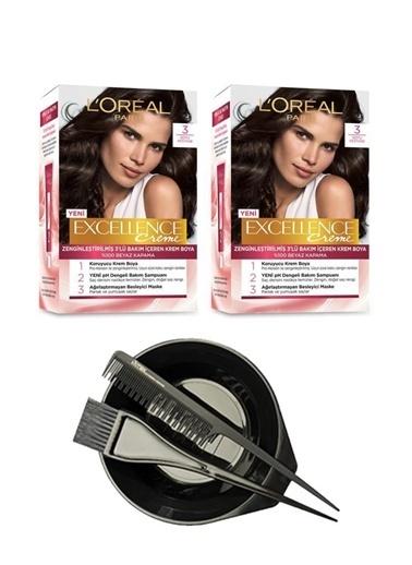 L'Oréal Excellence Creme 3 2'li + Saç Boyama Seti Renksiz